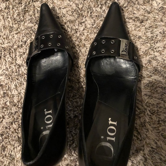76efe7d9cb3c Dior Shoes - Dior Black w  Hardware Kitten Heels